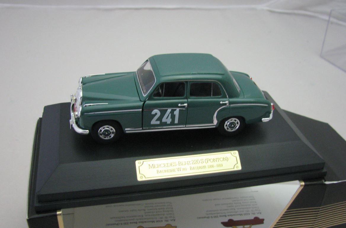 Faller Modelcar plastic 1 43 Mercedes Benz 220a Ponton W180 Rallye Monte Carlo