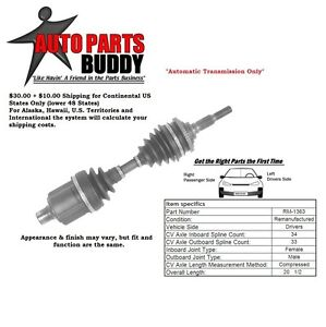Details about Front Left (Drivers) Side Axle (see details) GM A, J, N, Body  2 Yr Warranty