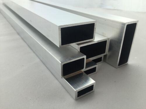 Scatola rettangolare in alluminio quadrato misura 12x8-50x50mm fino a 1000mm