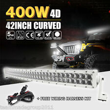 """4D PLUS WHITE 42INCH 400W CURVED LED LIGHT BAR WORK COMBO OFFROAD DRIVING VS 40"""""""