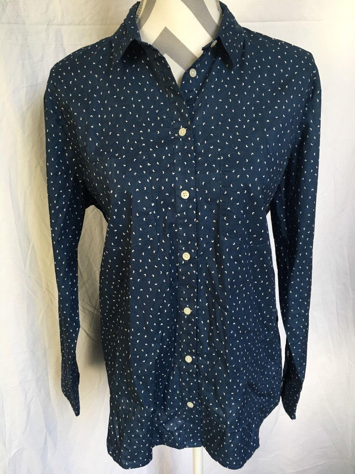 Madewell shrunken ex-boyfriend shirt in crescent moon Größe M