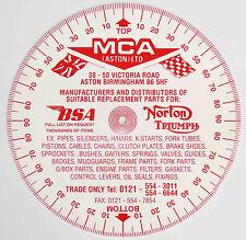 MCA Degree Timing Disc for Ariel AJS, Triumph Norton BSA Rudge Matchless etc