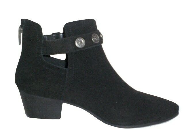Nine West bootie Lorao ankle boot western bootie West schwarz suede Leder sz 11 Med NEW 3614a7