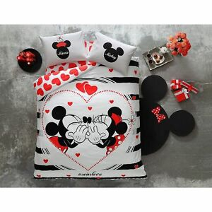 Leuchtende Bettwäsche Set 200x220 Disney Minnie Und Mickey Mouse