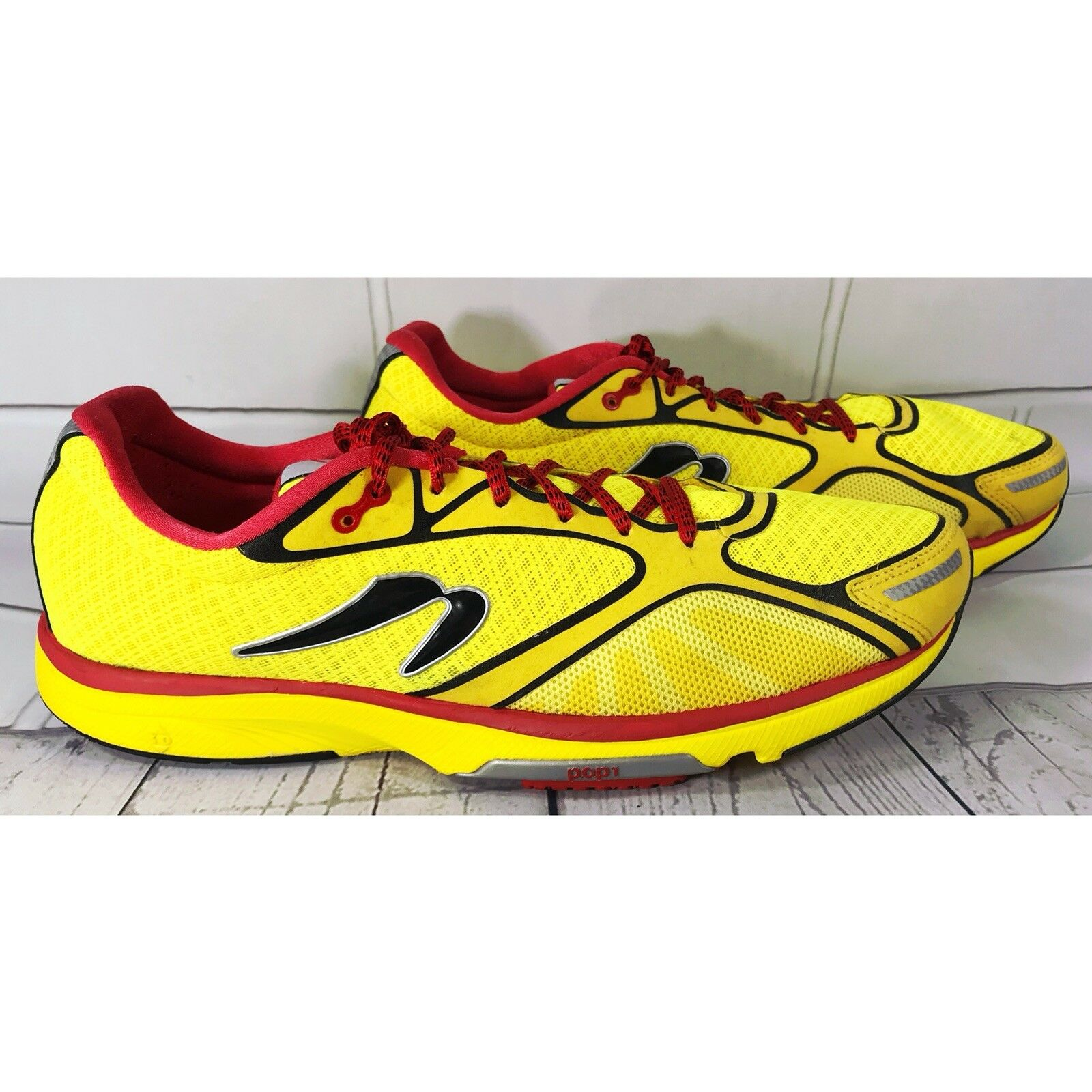 Newton Gravity III 3 POP1 Yellow Red Synthetic Lightweight Running Shoes Size 14