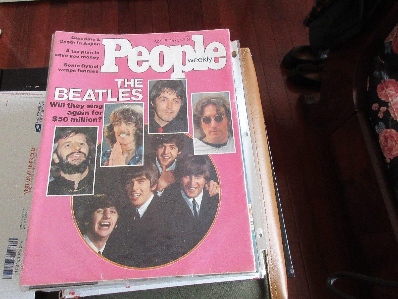 THE BEATLES , PEOPLE MAGAZINE , 4/5/76 , Claudine , Son