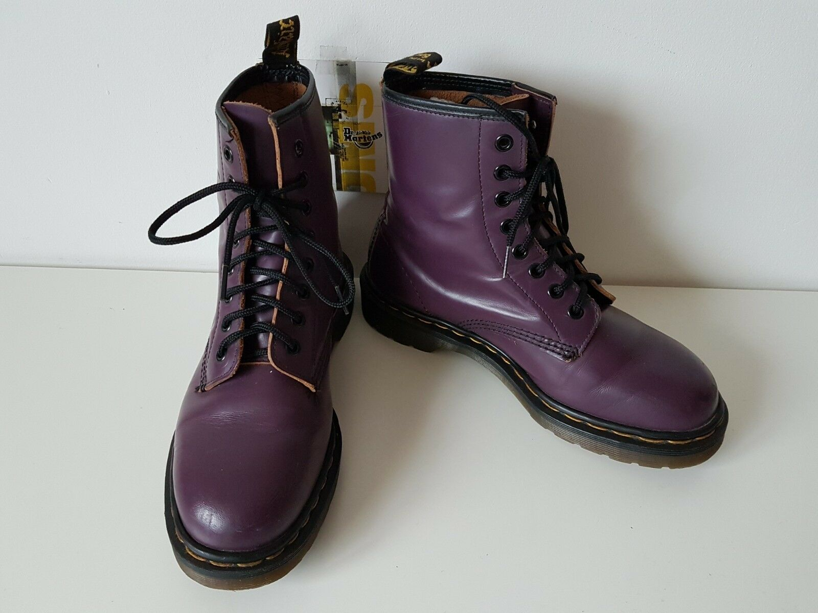 MADE IN ENGLAND Dr Martens 1460 purple boots UK 5 EU 38 goth punk