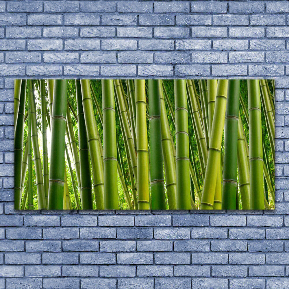 Canvas print Wall art art art on 140x70 Image Picture Bamboo Stalks Floral b54f9a