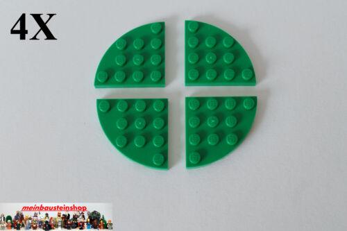 4x LEGO ® 30565 PIASTRA PLATE 4x4 quarto di cerchio Round angolo Round Corner verde green