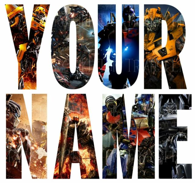 TRANSFORMERS LETTER NAME STICKERS WALL DECO DECAL 3 SIZES PERSONALISED lot TR