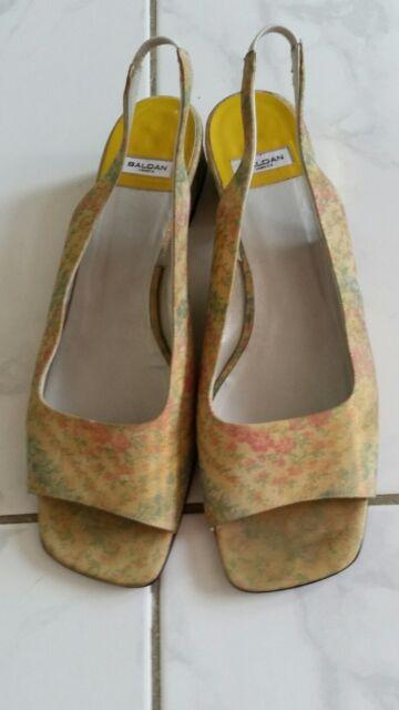 Baldan Venezia Damen Sandalette Gr.40,5 Nubuck Leder/ Sohlen Leder