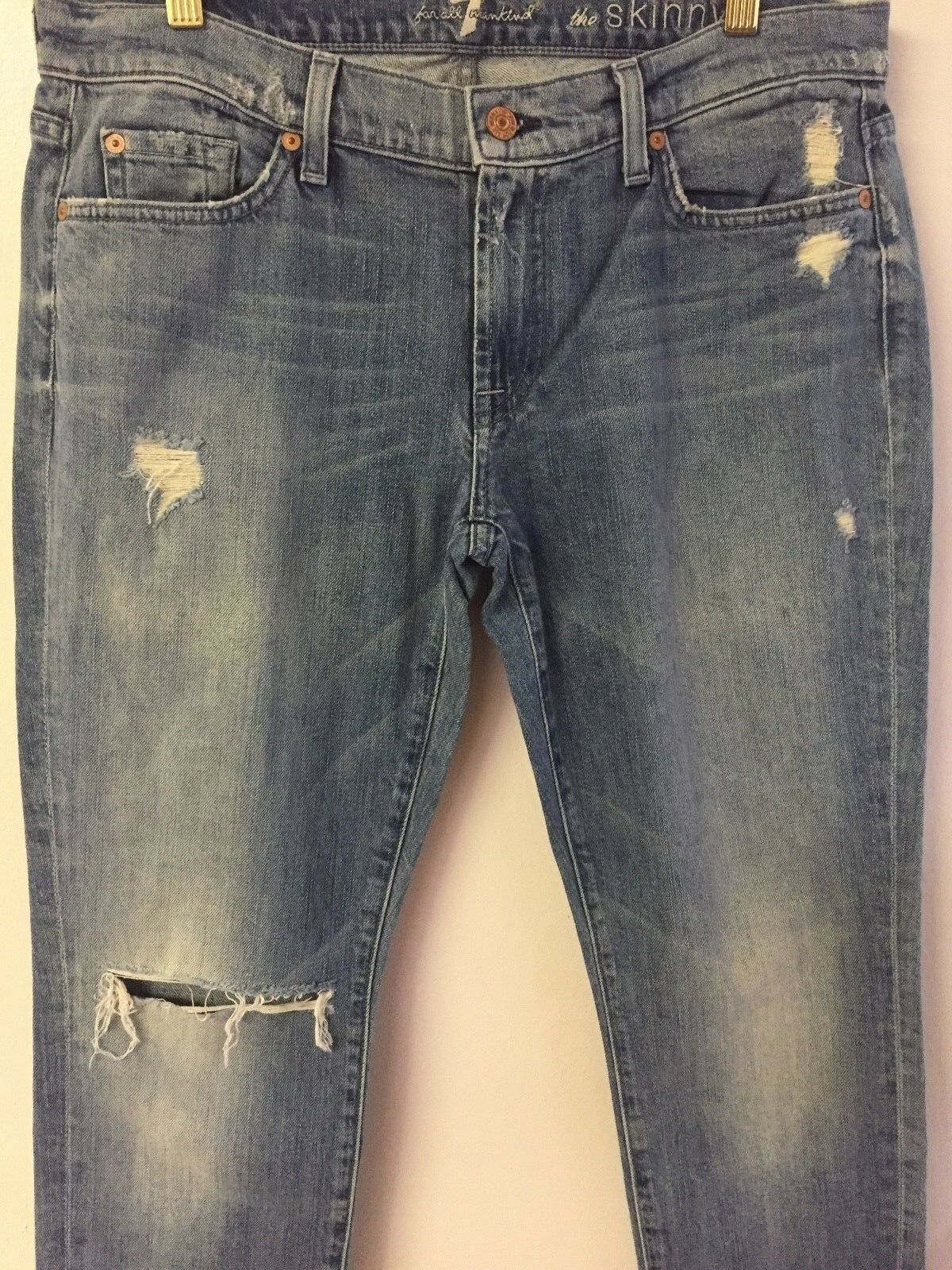 7 for all mankind THE SKINNY Denim jean second fit oceanside FW0041525A 34  32