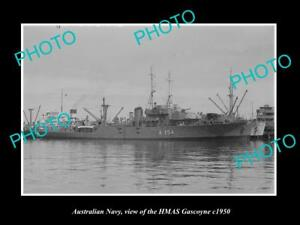 OLD-LARGE-HISTORIC-PHOTO-OF-AUSTRALIAN-NAVY-SHIP-HMAS-GASCOYNE-c1950