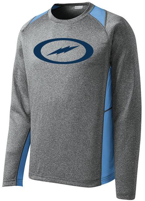 Storm Men's Fight Performance Bowling Shirt Long Sleeve Heather Carolina bluee
