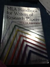 MLA Handbook for Writers of Research Papers by Joseph Gibaldi (2003,...