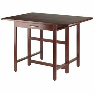 Details About Winsome Taylor Drop Leaf Dining Table In Walnut
