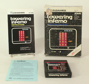 Boxed Atari 2600 game Towering Inferno By U.S. Games Tested & Working
