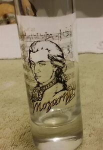 Mozart Composer Tall Shot Glass Classical Music