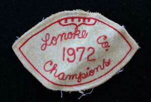 VINTAGE-1972-CHAMPIONS-RED-AND-WHITE-PATCH-5-034-X-3-034