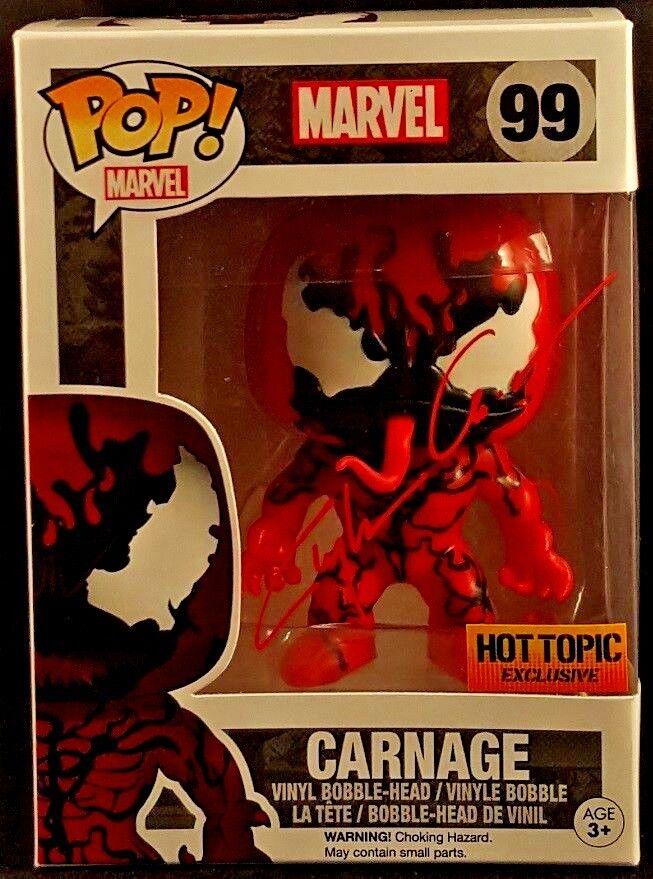 Marvel Comics Funko Pop  Carnage  99 signé par Clayton Crain Spider-Man Venom