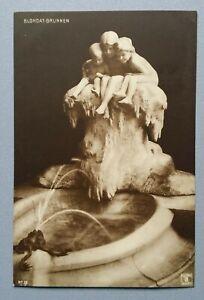 Old-Postcard-Sculpture-Plastic-Monument-Blondat-Fountain