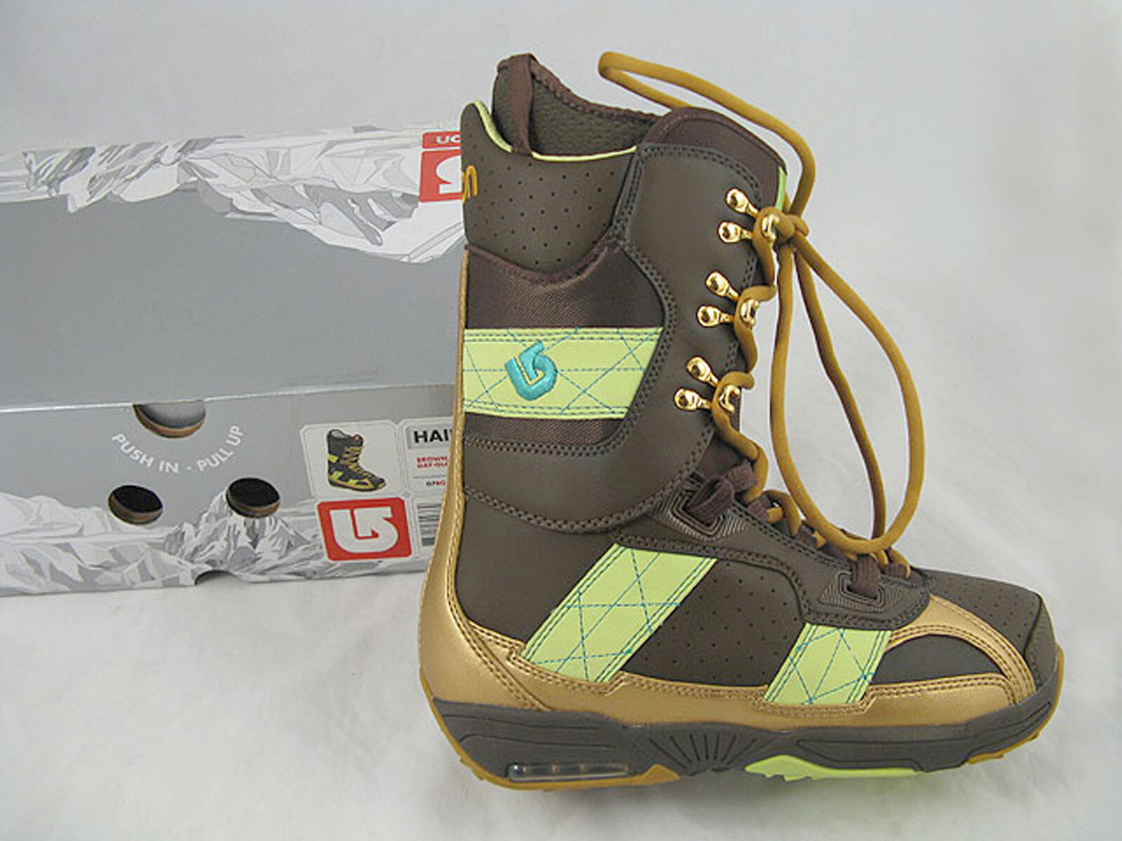 NEW  220 Burton Hail Snowboard Boots  US 7, Mondo 25, Euro 40  BROWN GLOW