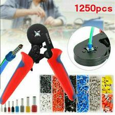 Crimping Tool Set Crimp Wire Plier Tools 1250pcs Wire Ferrule Terminals Kit