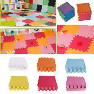 9 Large Soft EVA Foam Floor Mat Interlocking PlayMat Set Baby Kids Activity