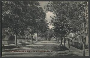 Walden-Orange-Co-NY-c-1909-Postcard-MONTGOMERY-STREET-LOOKING-NORTH
