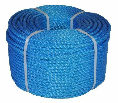 220M TRADE COIL -16MM QUALITÄT STRONG EVERLASTO blueE POLYPROPYLENE POLY ROPE