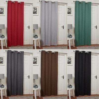 Waffle Design Thermal Door Curtain Panel Energy Saving Draught Draft Heat  Loss   eBay