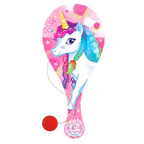Pick Your Design Unicorn Theme Wooden Paddle and Ball Toy