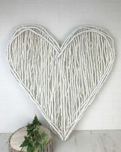 Terrific Details About Giant White Willow Heart Wall Hanging Shabby Chic Twig Hearts Home Decor Home Interior And Landscaping Ponolsignezvosmurscom