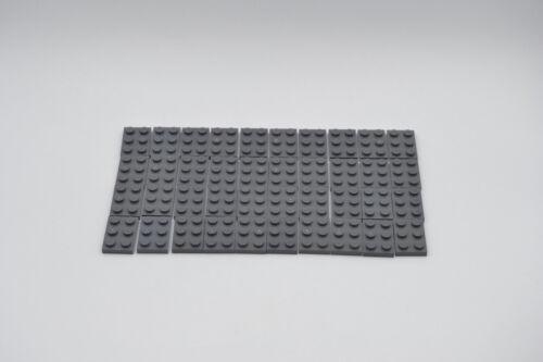 LEGO 40 x Platte 2x3 neues dunkelgrau newdark grey gray basic plate 3021 4211043