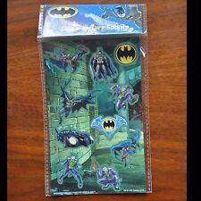 DC Batman Glow in the dark sticker set AS IS MIP