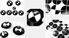 GLOSS BLACK Complete Set of Vinyl Sticker Overlay All BMW Emblems