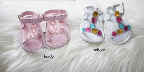 NEW Infant Baby Girl Summer Gem Sandals Shoes 3-6 9-12-15 months Size 2.4.5