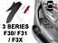 thumbnail 3 - Door Handle Cover BMW 318, 320, 330 F30 F3X Black Leather Red Stitch RIGHT