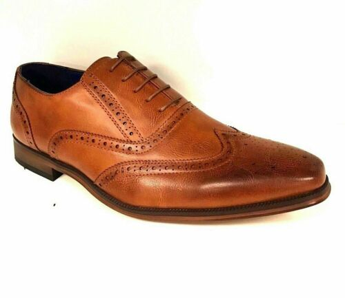 Mens Casual Wedding Boots Formal Office Work Lace Up Oxford Brogue ShoesM050