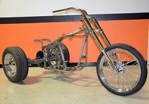 Custom Trike Softail Bobber Chopper Frame Rolling Chassis Roller Harley Bike Kit Ebay