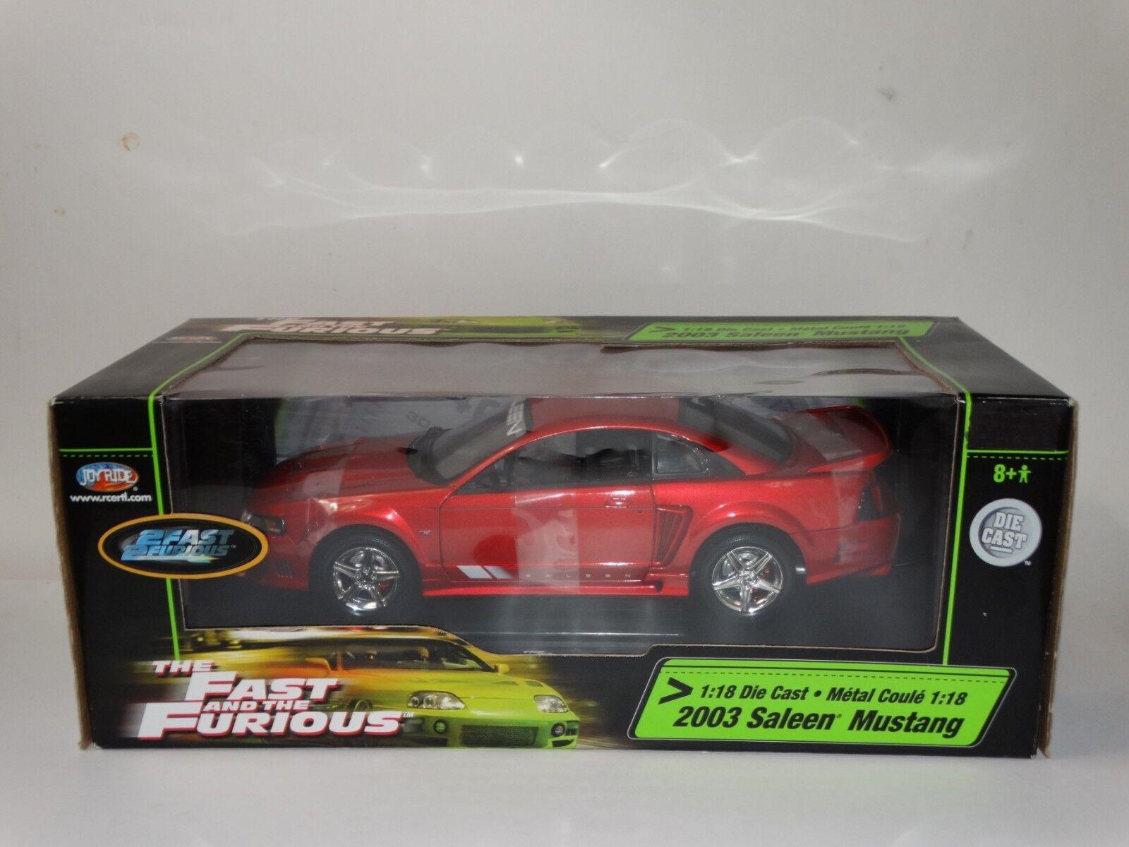 ERTL Joyride rapide et furieux 2003 Ford Saleen Mustang échelle 1 18 Diecast Voiture