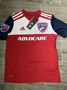 NEW Adidas Youth Climalite FC Dallas Home Stadium Jersey Small YS ...