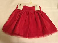 Gegrge Kids 18 Month Red Scooter Skort Skirt Velveteen Very Dressy Christmas
