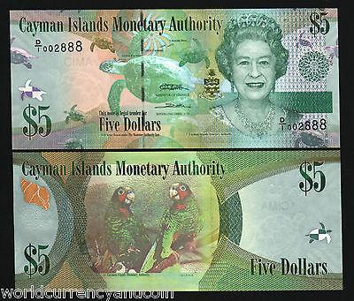 D//4 LOW Serial 001 UNC 2010 P-38d Cayman Islands 1 Dollar 2014 5 Pcs LOT