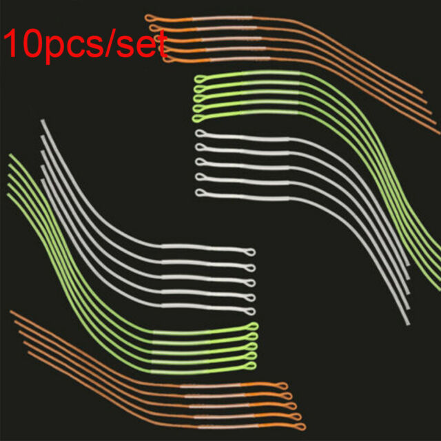 10pcs//Set Fly Fishing Braided Loop Connector 30LB 18cm Leader Loops For Fly Line