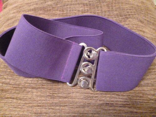 Nurses Purple Retro 50s Ladies 50mm Adjustable Elasticated Elastic Snake Belt xl