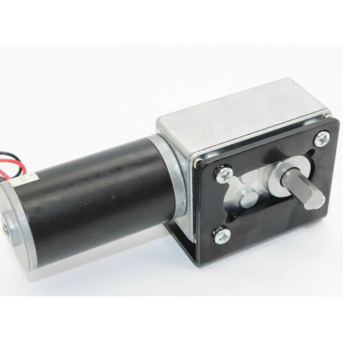 24V 470RPM High torque  worm Geared motor DC motor for Curtains