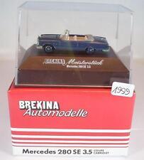Brekina 1/87 2105 obra maestra mercedes benz 280se 3,5 Coupe/Cabrio n3 OVP #1999
