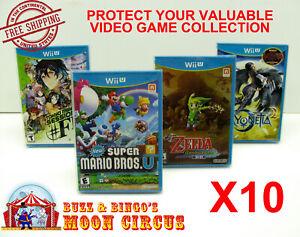 10X-NINTENDO-Wii-U-CIB-GAME-CLEAR-PLASTIC-PROTECTIVE-BOX-PROTECTORS-SLEEVE-CASE