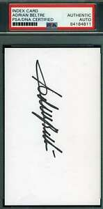 Adrian-Beltre-PSA-DNA-Coa-Autograph-Hand-Signed-3x5-Index-Card